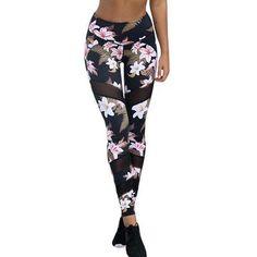941cf07cf1cd8 Leggings. Floral Print PantsFloral LeggingsMesh LeggingsRunning  LeggingsGirls LeggingsSports ...