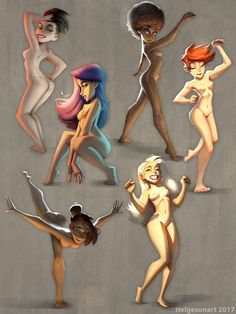 ArtStation - Girls and Light , Johannes Helgeson