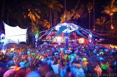 Full moon party, Goa, India