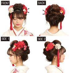 Japanese Festival, Japanese Wedding, Hair Arrange, Updo Styles, Hair Reference, Chef D Oeuvre, Yukata, Perm, Japanese Culture