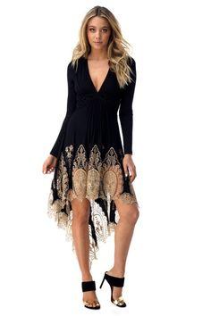 Sky Radley Lace High Low Dress