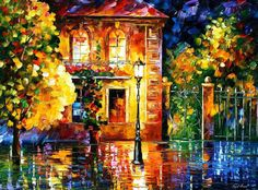 OIL ON CANVAS PAINTING DIRECTLY FROM FAMOUS ARTIST LEONID AFREMOV  Title: Night Of Expectations Size: Variable Condition: Excellent Brand new Gallery Estimated Value: $ 7,500 Type: Original Recreation Oil Painting on Canvas by Palette Knife  This is a recreation of a piece which was already sold.  Its not an identical copy, its a recreation of an old subject. This recreation will have texture unique just to this painting, a fingerprint that can never be repeated. My recreation will look…