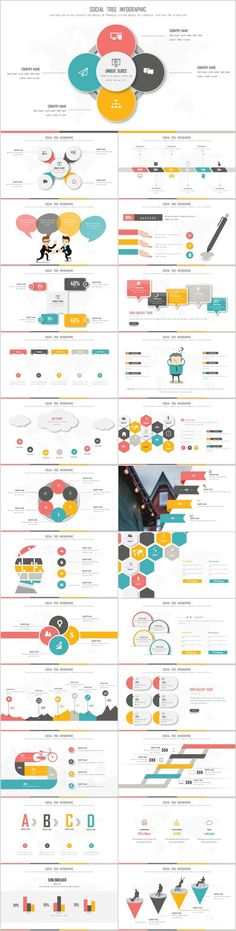 25+ multicolor infographics charts PowerPoint Template #powerpoint #templates #presentation #annual#report #business #company #design #creative #slide #infographic #chart #themes #ppt #pptx#slideshow#keynote