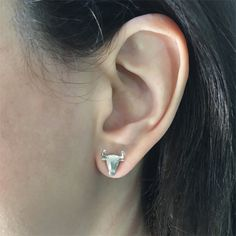 Bull Stud Earrings – Silver Animal Taurus Jewelry, ideal Silver Stud Earrings Gift  #bull #taurus #bullearrings #taurusearrings #animalearrings #animalstud #silverstudgift #tauruszodiac #tauruszodiacgift #silverbull #silvertaurus
