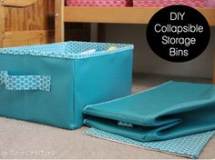 collapsable storage bins free sewing patterns