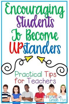 Upstander behavior is vital! Help your students move from bystanders to UPstanders with the practical advice in this post! Teacher Blogs, New Teachers, Teacher Hacks, Teacher Organization, Teacher Stuff, Classroom Routines And Procedures, Classroom Management Tips, Classroom Ideas, Student Rewards