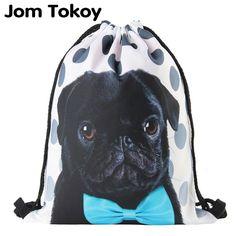 Classic Fashion Animal Figure Girl Backpack Printing Women Travel Mochila Backpack Men's Bags Drawstring Bag