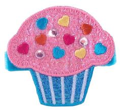 """Bow Allure """"Basville Park"""" Cupcake Hair Clip for Girls  by Bow Allure"""