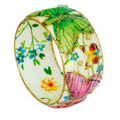 Bangle  Bangle Bracelet  Resin Bangle  Enamel by irisdesign1