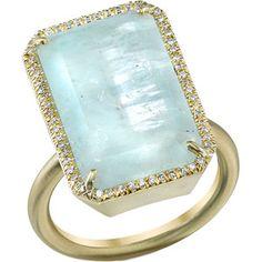 Irene Neuwirth Aquamarine and diamond ring