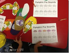 Pumpkin Pie beginning sounds to letters