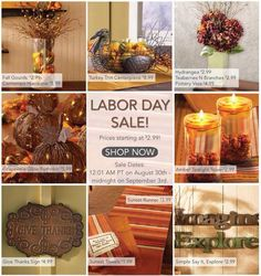 65 different items to choose from http://decoratetoday.athome.com/browse/Labor%20Day%20Weekend%20Sales.html