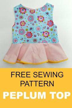 peplum top pattern  free sewing pattern and tutorial
