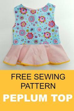 peplum top pattern  free sewing pattern and tutorial