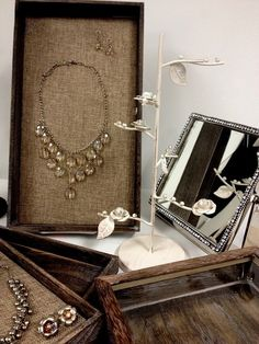 Great Store Display For A Salvage Chic Look