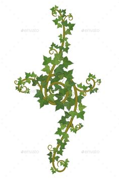 Buy Ivy Branch by belander on GraphicRiver. decor of interwoven branches of ivy