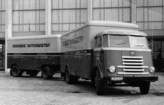 DAF A60 7-streper anno 1950 Manders autodiensten  Asten Holland