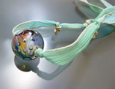 Melanie Moertel Lampwork Beads  Round twisted by melaniemoertel, $118.00