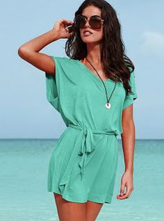 e2a391dd0de Wrap up beach-to-street chic in a cute Tie-waist Cover-up Dress from  Victoria s Secret. Shop the Forever Sexy™ collection for women s swimsuit  cover-ups and ...