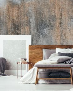 Go for the industrial look with a made to measure concrete wallpaper mural from Wallsauce. Featuring beautiful rust tones, this concrete effect wallpaper mural is sure to help you create a striking feature wall! Click on the link to discover the full rang