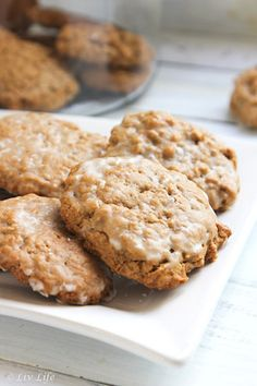 Old Fashioned Iced Oatmeal Spice Cookies... these beauties quickly became a family favorite!