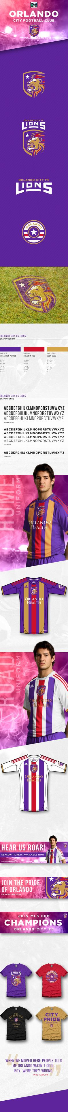 Orlando City Football Club - Identity proposal by Brandon Moore, via Behance