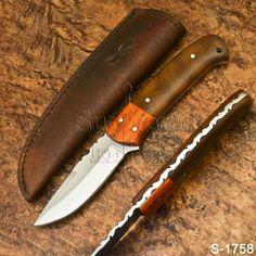 Supreme's Hand Made High Carbon Steel Resin Skinner Knife-Sheath Knife Sheath, High Carbon Steel, Supreme, Knives, Resin, Handmade, Ebay, Wood, Hand Made