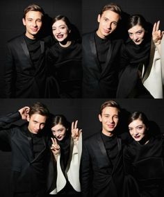 My two favourite people.. Flume & lorde Xx