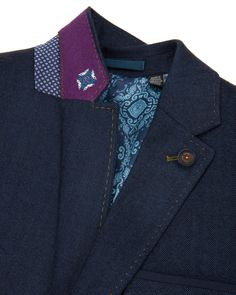Herringbone blazer - Blue | The Professionals | Ted Baker