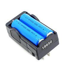 2 stuks 18650 3.7v-4.2v 5000mAh li-ion batterij   18650 acculader - EUR € 1.99