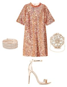 """Sequin x Rose Gold"" by hautecoutureblvd on Polyvore featuring H&M, Charlotte Russe and Anne Klein"