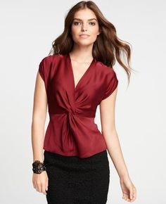 Have a bright red tank top exactly like this, it's my favorite shirt! SO flattering!