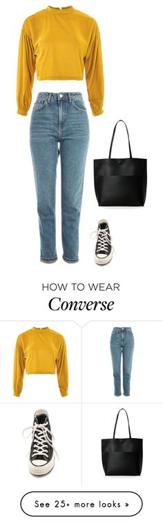 """Sans titre #4726"" by noonewilleverknow on Polyvore featuring Topshop, Converse and Street Level"