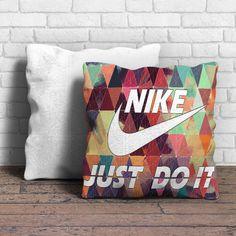 Geometric Nike Just Do It Pillow | Aneend
