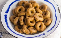 Taralli are an Italian snack cracker similar in texture to crunchy breadstick and pretzels that can be sweet or savory.
