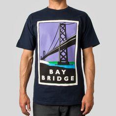 Bay Bridge Tee in Navy