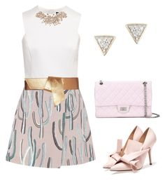 """""""Rose Gold 🌹"""" by molkabha on Polyvore featuring MSGM, Ted Baker, Maison Boinet, Chanel and Adina Reyter"""