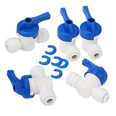 """BQLZR Equal Straight OD Tube Ball Valve Quick Connect Fitting 1/4"""" RO Water System Pack of 5: Amazon.ca: Tools & Home Improvement"""