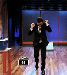 Jimmy Fallon. Happy dance! (.gif)