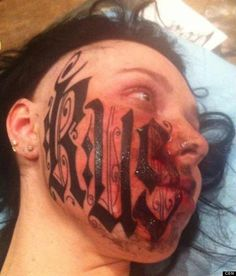 ruslan toumaniantz girlfriend face:: Tattoo artist puts his name on girlfriend's face hours after they met, and SHE LET HIM!!