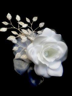 BRIDAL HAIR FLOWER Hawaiian White Gardenia Tropical by MalamaPua, $39.99