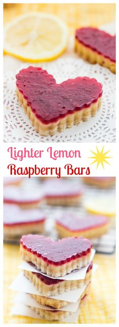 A lightened up version of the classic lemon bar with a delicious raspberry twist.
