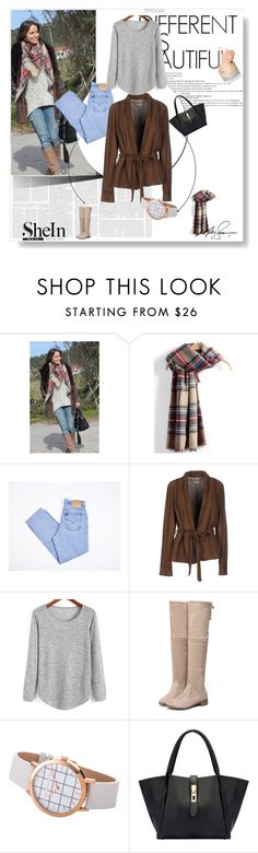 """SheIn I"" by almma-karic ❤ liked on Polyvore featuring Levi's, Meatpacking D., WithChic, Sheinside and shein"
