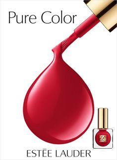 Estée Lauder Pure Color Nail Lacquer in Le Smoking. The most fabulousc shade of red!