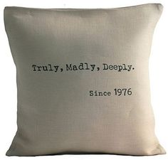 A Lovely Anniversary Pillow