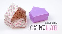 Origami House Box  Dolls House  DIY  Paper Kawaii #origami #paperkawaii