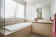 #thearthouse #guestbathroom #newhome #firsthome #twostorey #bathtub #vanity #inspiration #contempoary