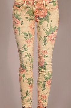 Spring Necessity: Floral Print Jeans