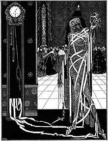 Ilustración para La máscara de la Muerte Roja por Harry Clarke, 1919.