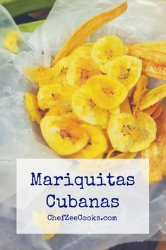 Mariquitas Cubanas are Plantain Chips are easy to make and dangerously delicious! Come back for more & share with family & friends!